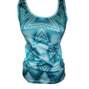 Lucy Tech XS Women Tank Top Teal Blue Shirt Gym